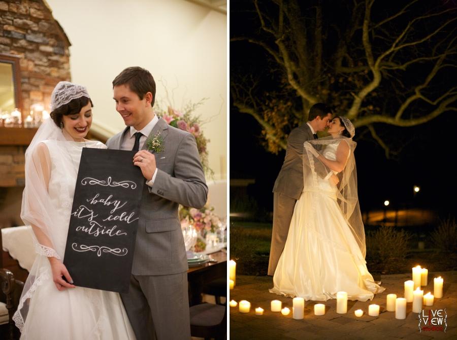 winter wedding inspiration, candlelit wedding portrait photography
