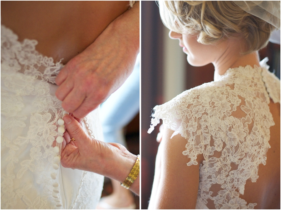 beautiful lace wedding gown, vintage wedding photographers, raleigh nc