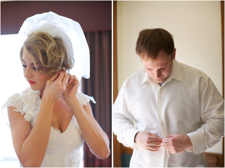 bride and groom getting ready for the wedding, southern wedding photographers, raleigh nc