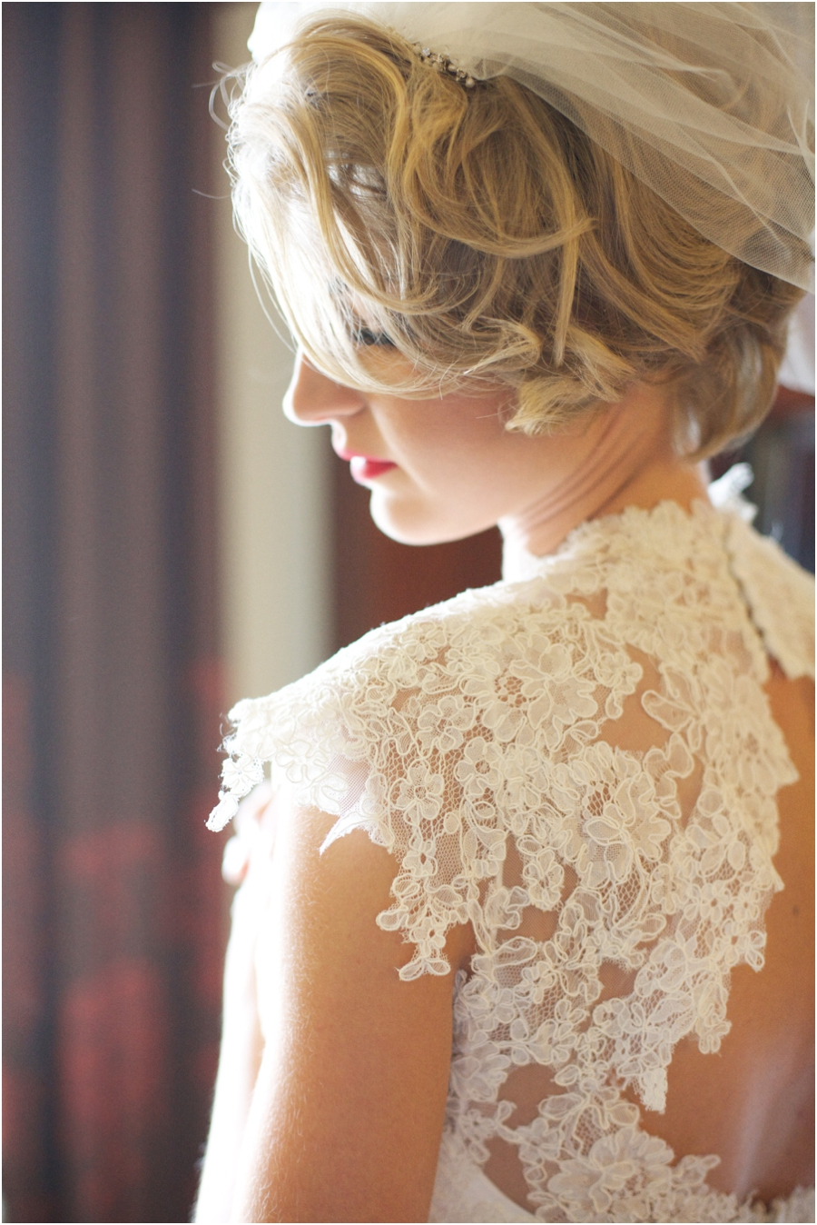 intricate lace details on wedding dress, southern bridal portraits