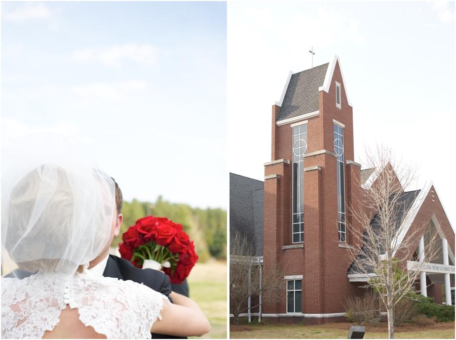 southern vintage wedding photographers, fuquay varina methodist church