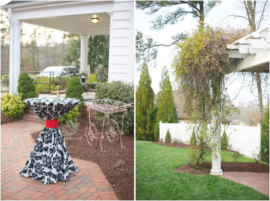 beautiful scenery at high grove wedding reception