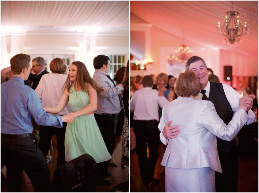 guests dancing at high grove wedding reception