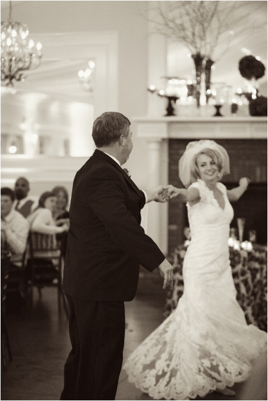 father-daughter dance at wedding reception