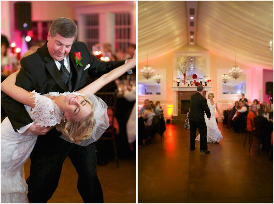father-daughter dance at high grove wedding reception