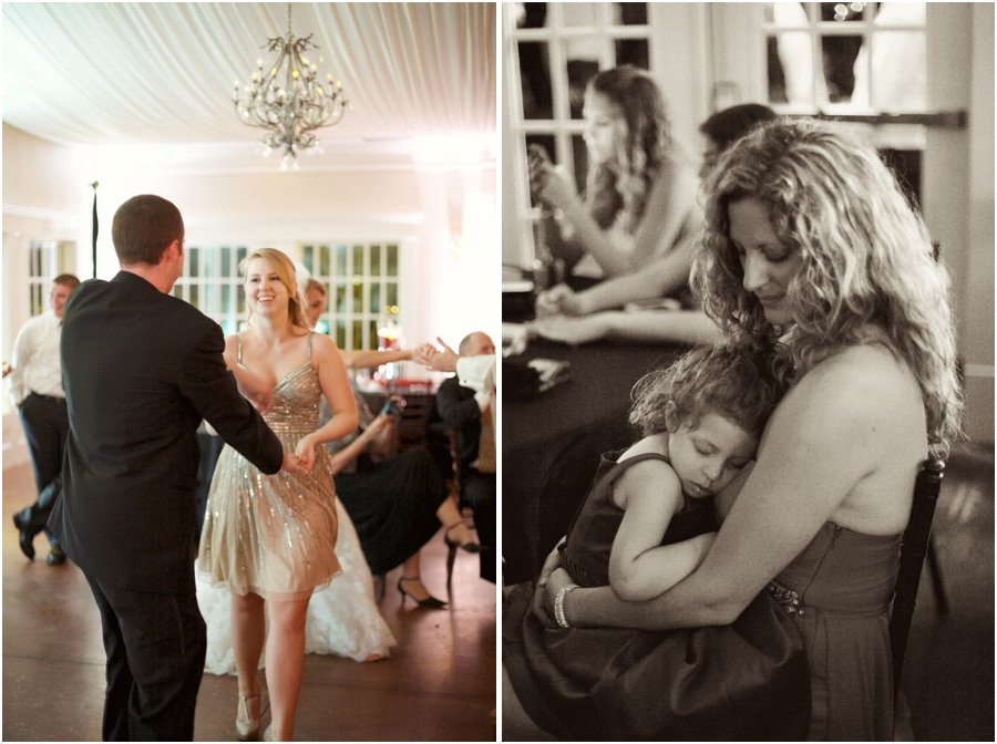 guests at high grove wedding reception, vintage wedding photographers