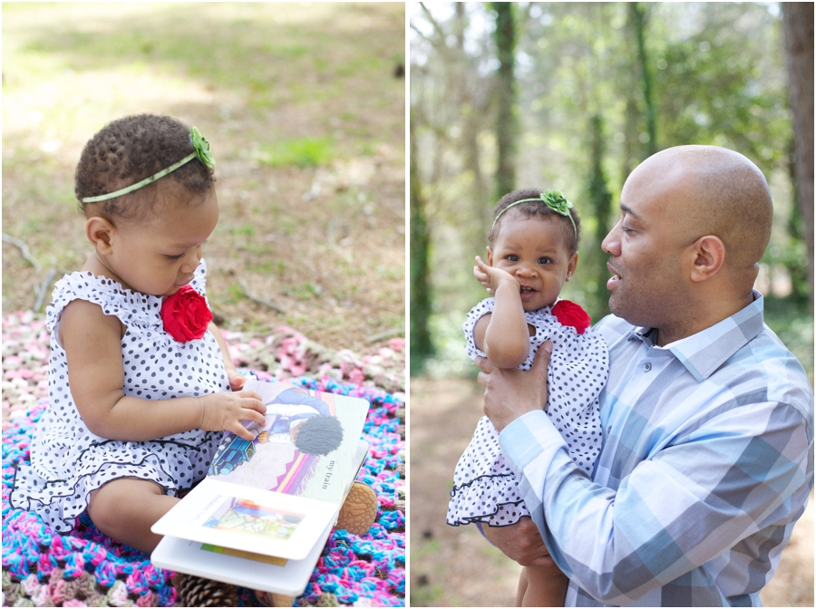 cute baby girl with her daddy, southern family photography