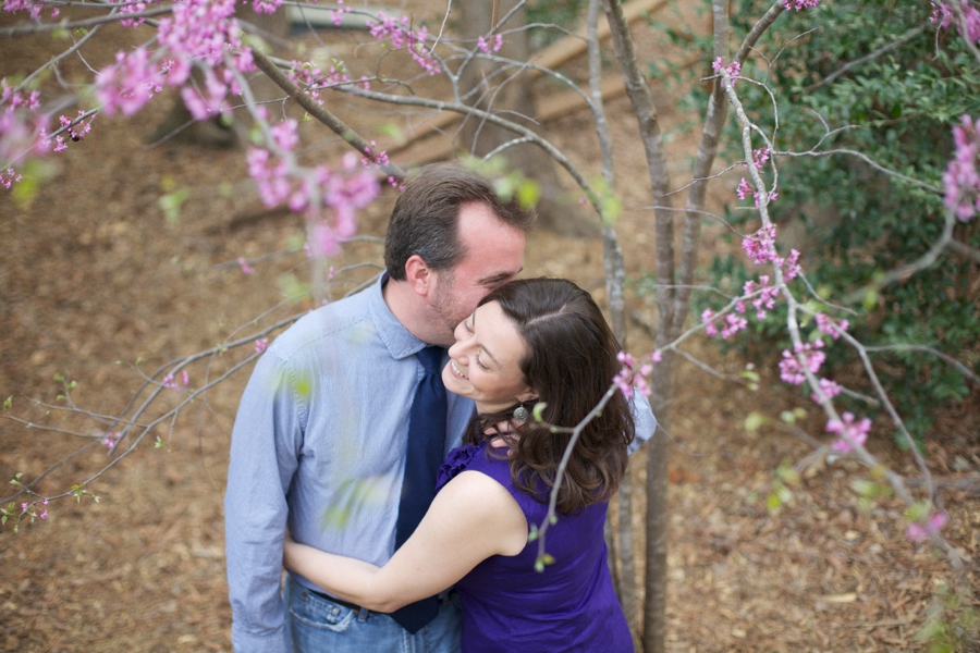 romantic spring engagement photography