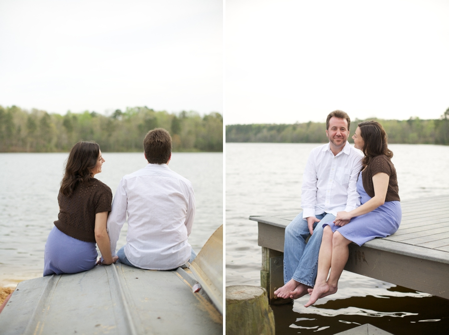 southern engagement photography, lakeside couples photography