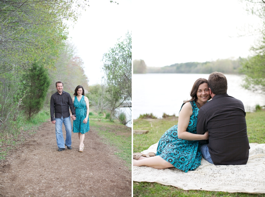 picnic engagement photography, vintage engagement photographer