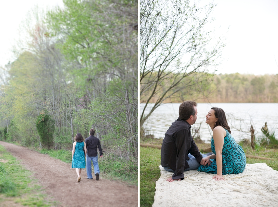 picnic engagement photography, southern engagement photographer