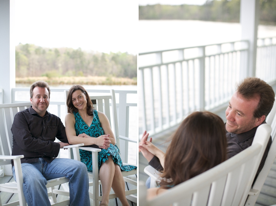 waterfront engagement photography, raleigh nc couples photographer