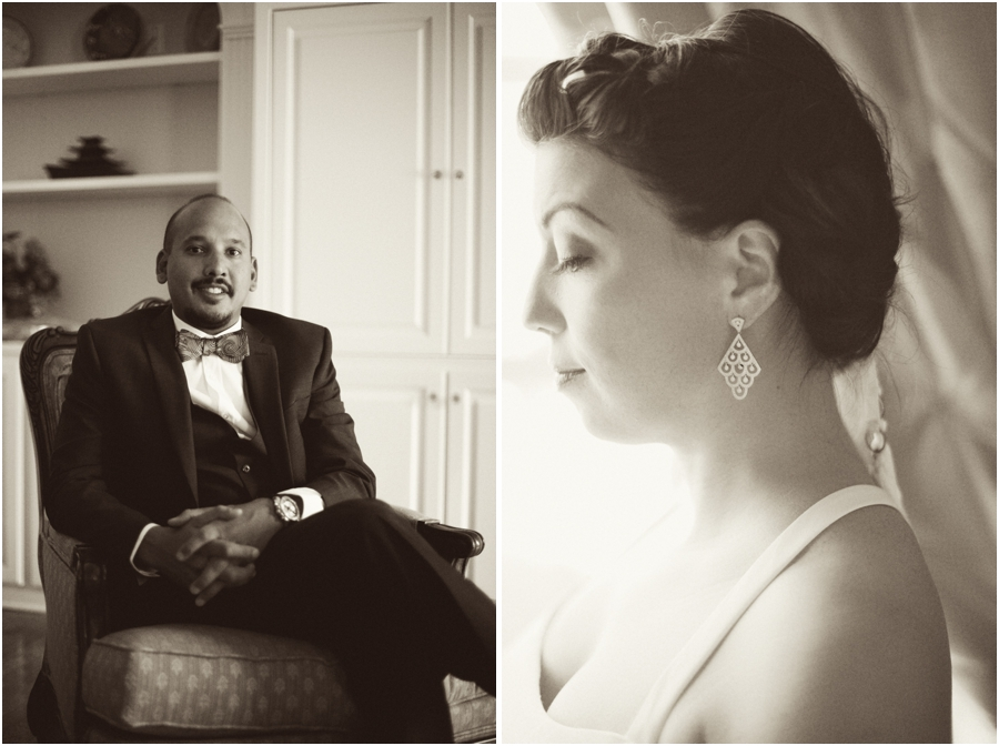 bride and groom's portraits, southern rustic wedding photographers