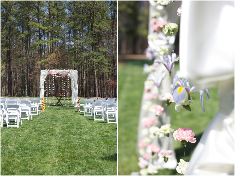 beautiful hand made Mandap at multicultural wedding, outdoor wedding photography