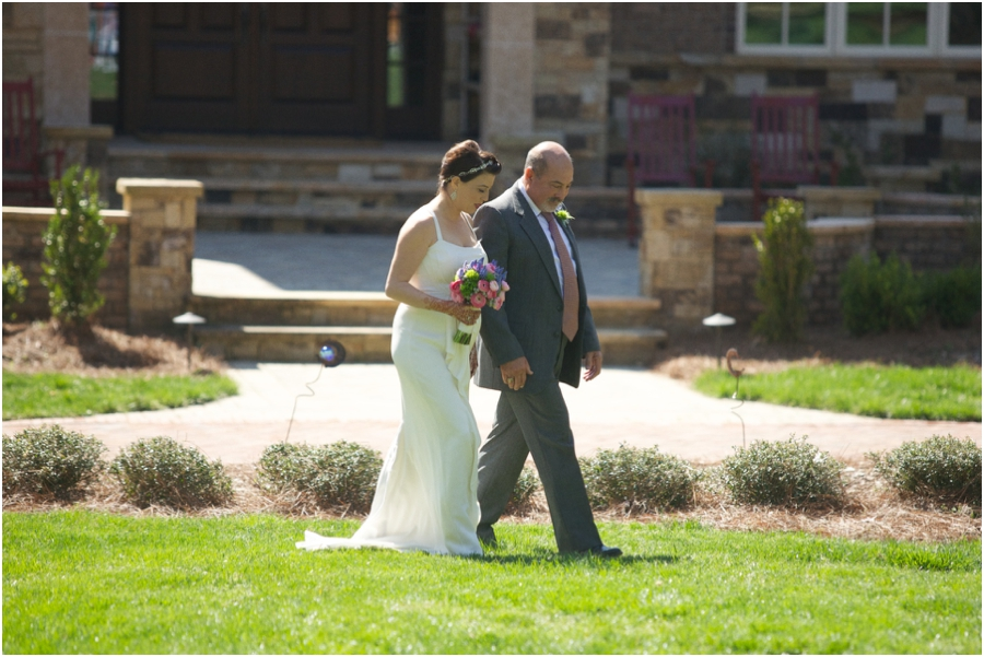 rustic wedding photography, father walking bride down the aisle