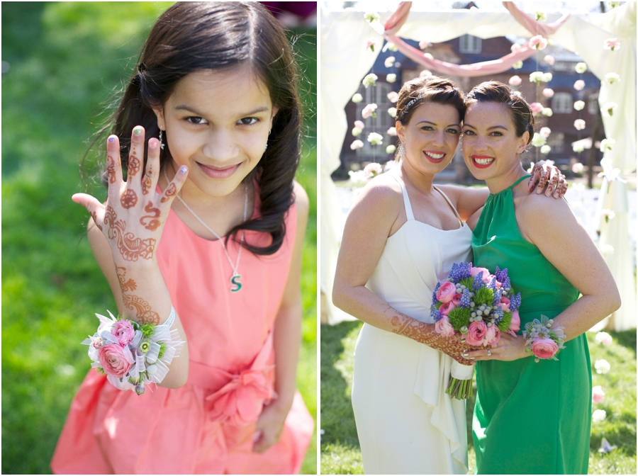 little girl with henna hand tattoos, multicultural wedding photography