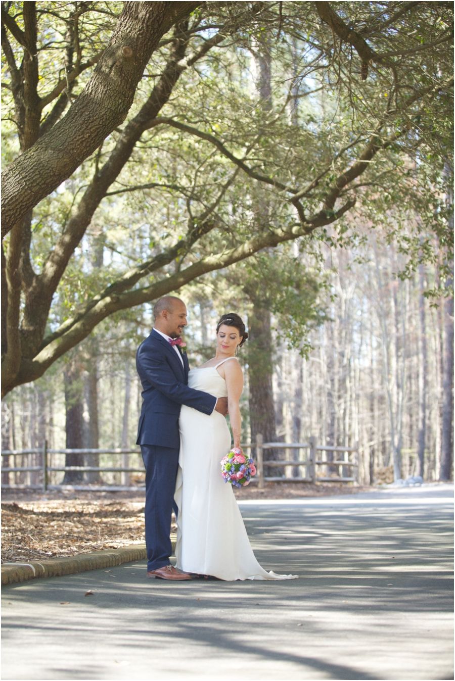 southern rustic wedding portraits