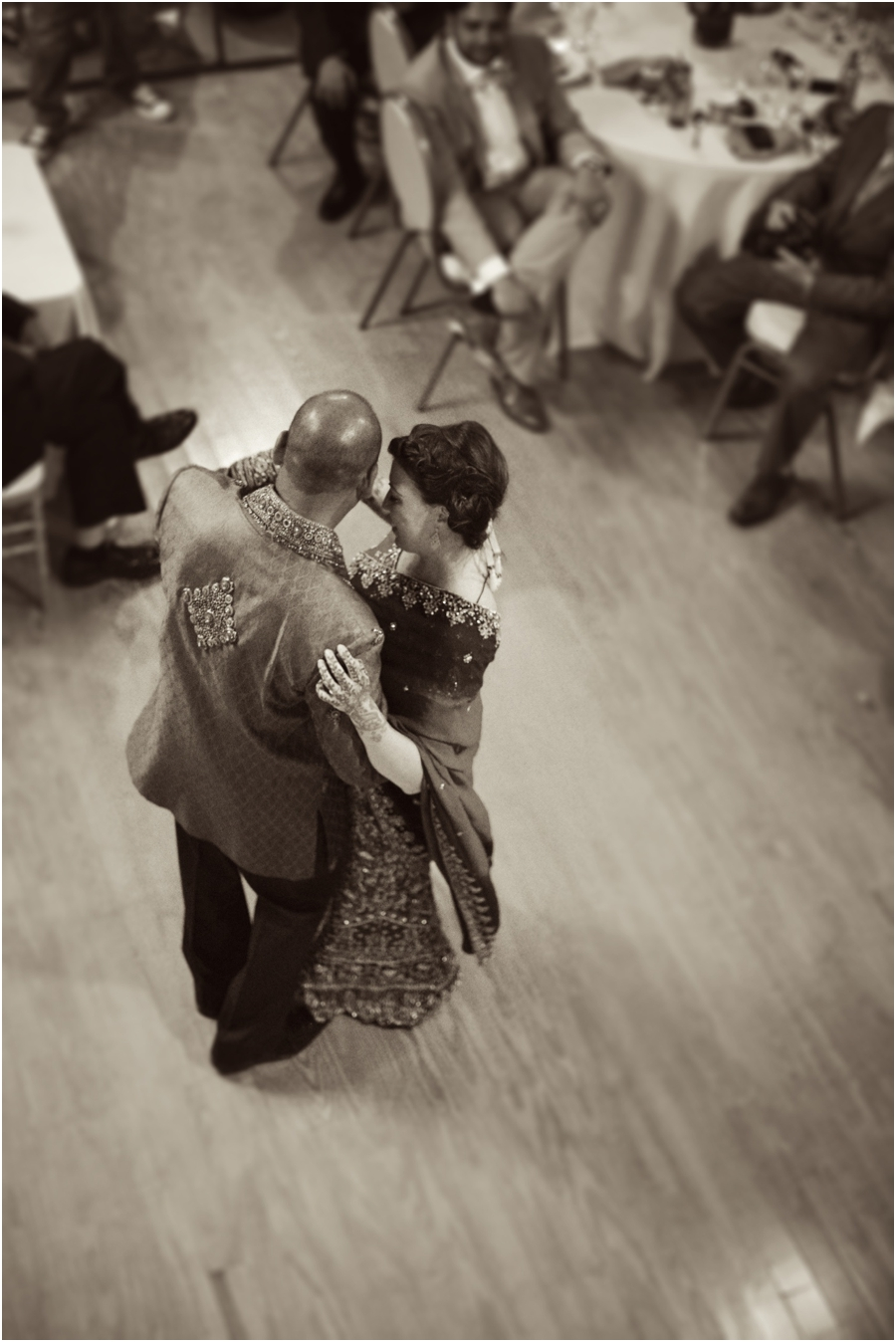 romantic vintage wedding portraits, bride and groom dancing at the reception