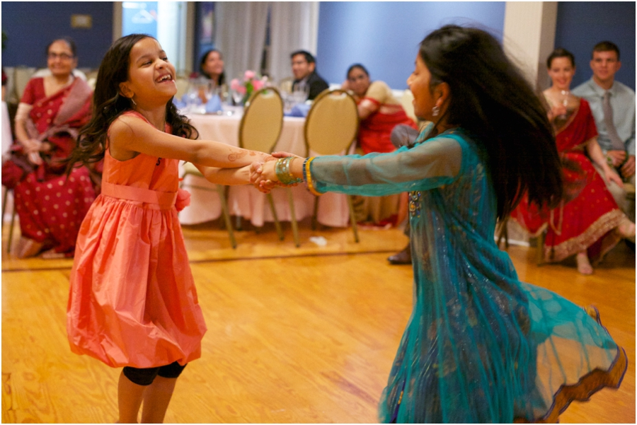 little girls dancing at wedding reception, southern wedding photographers