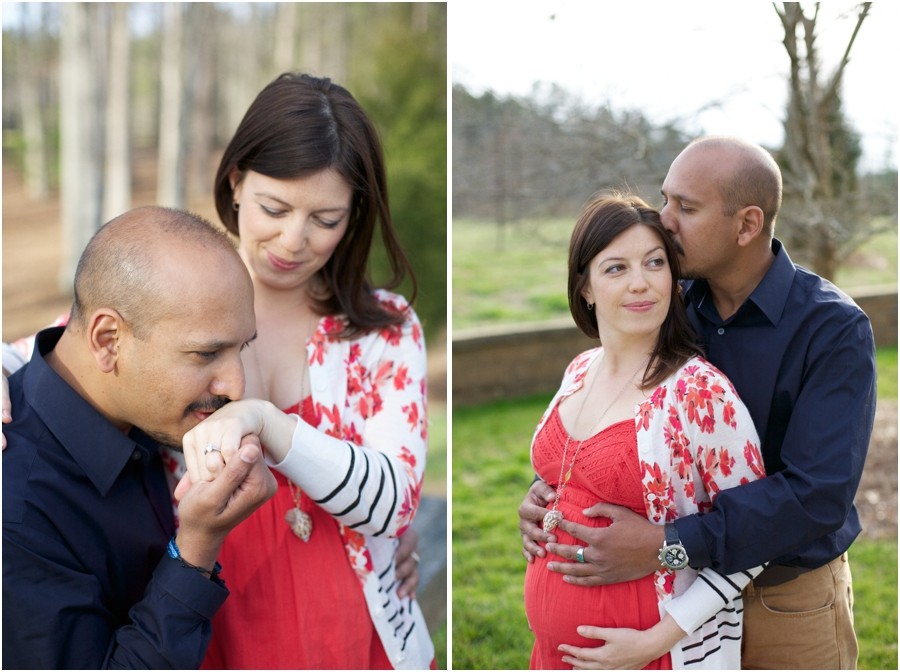 sweet engagement photos, expectant couple's photography