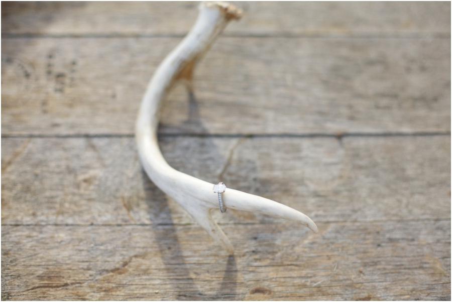 unique ringshot ideas, engagement ring on deer antler