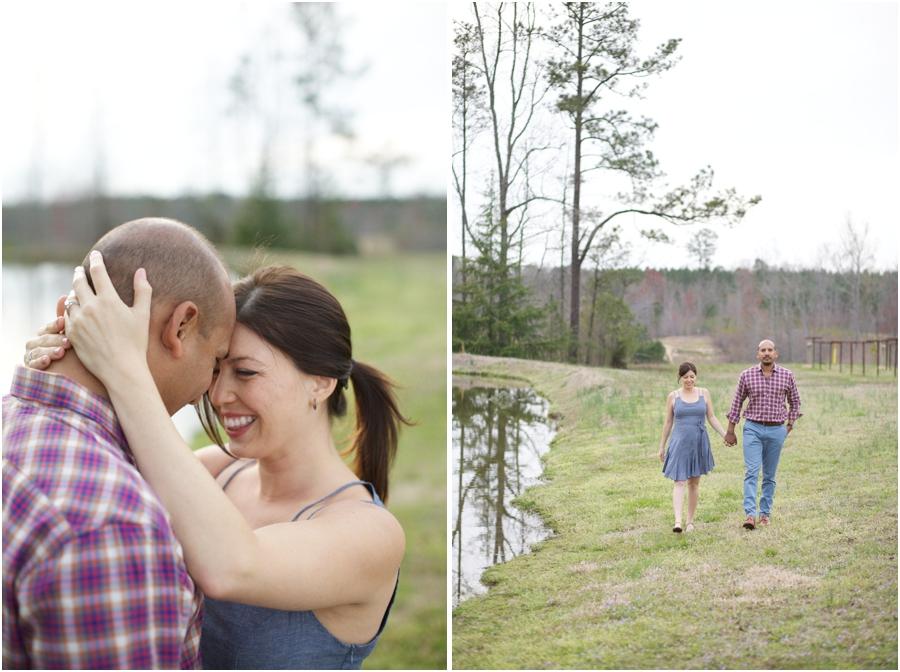 romantic lakeside engagement photography, north carolina