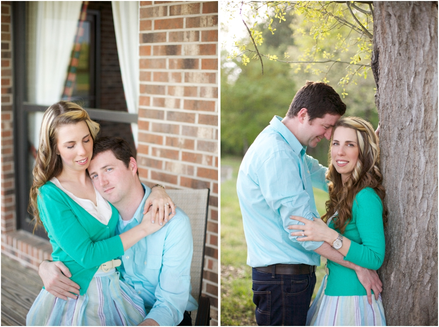 romantic southern engagement photography, nc vineyard engagement photographers