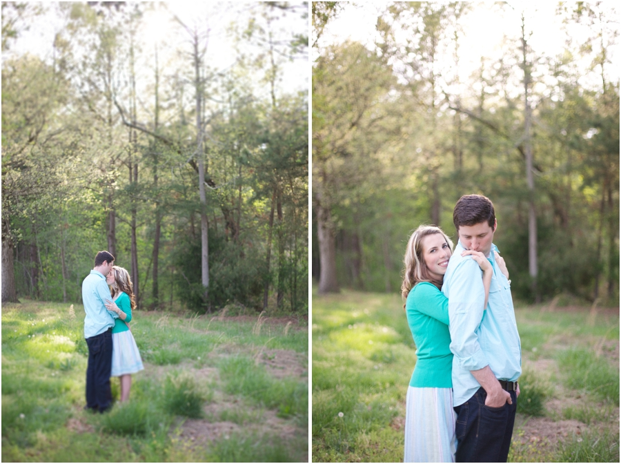 intimate southern engagement photography, rustic engagement photographers