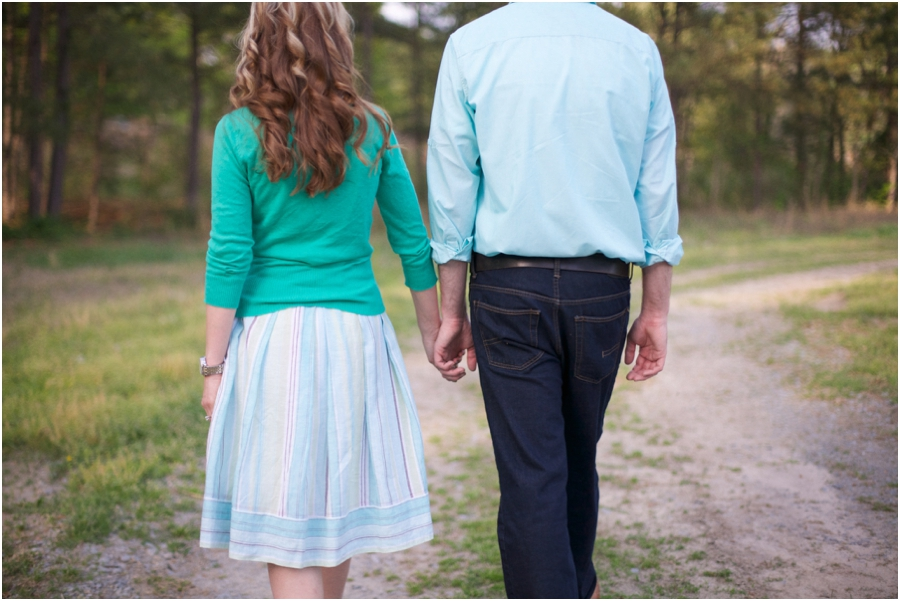 romantic southern engagement photographers, raleigh nc
