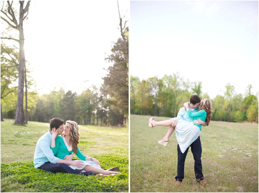 intimate engagement photographers, romantic spring engagement photography