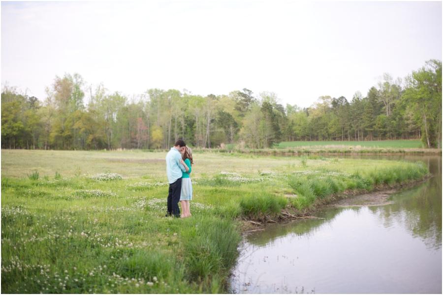 romantic north carolina engagement photography