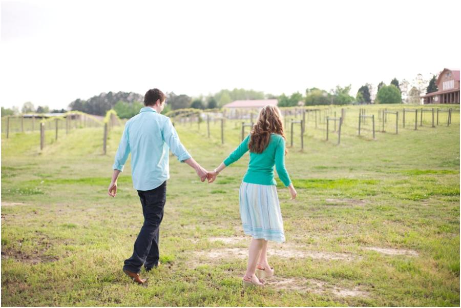 north carolina vineyard engagement photography