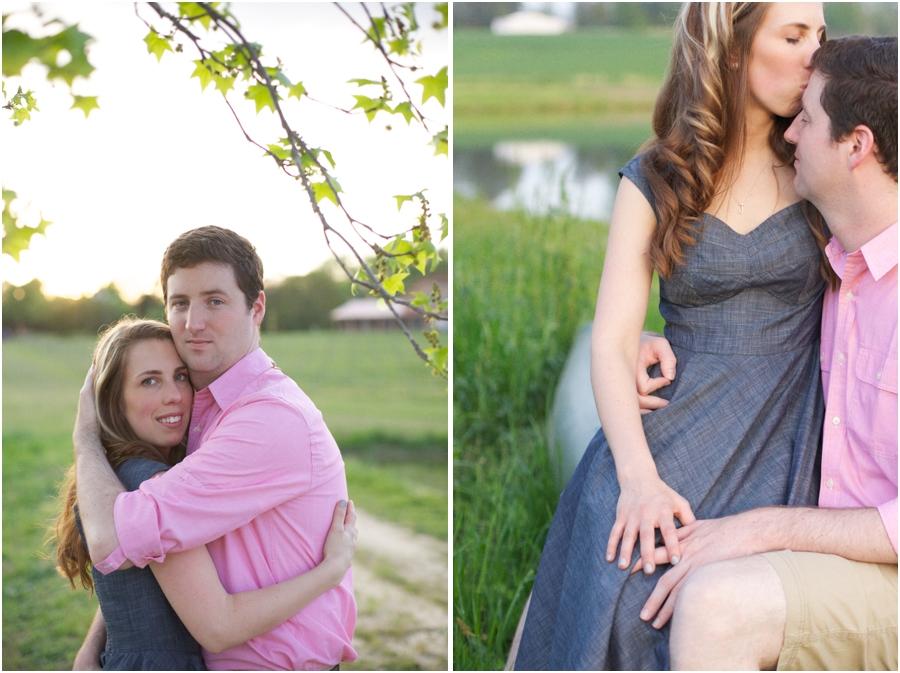 romantic spring engagement photography, southern couple's portrait photographers