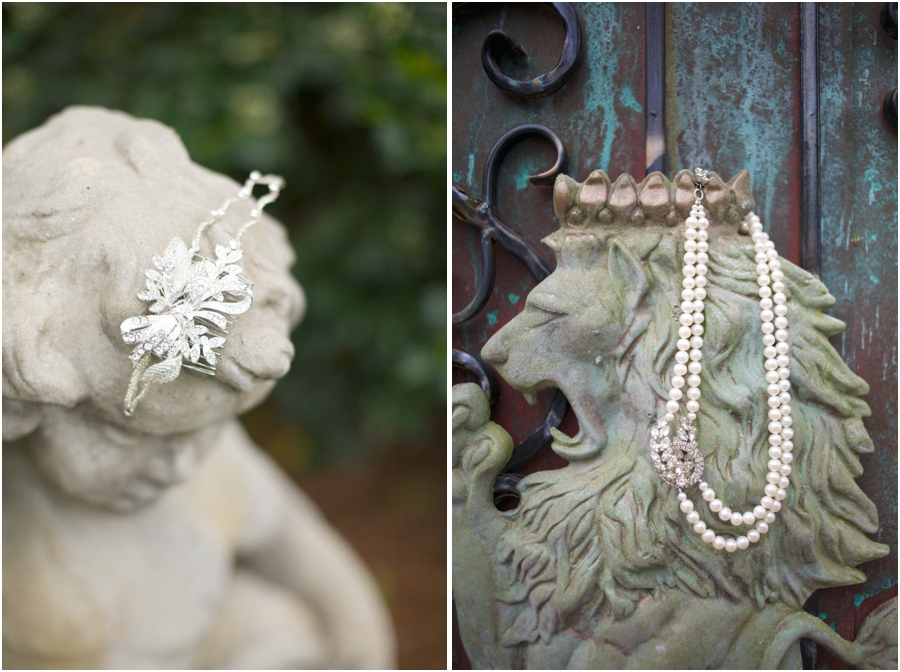 vintage bridal jewelry, romantic vintage wedding photography