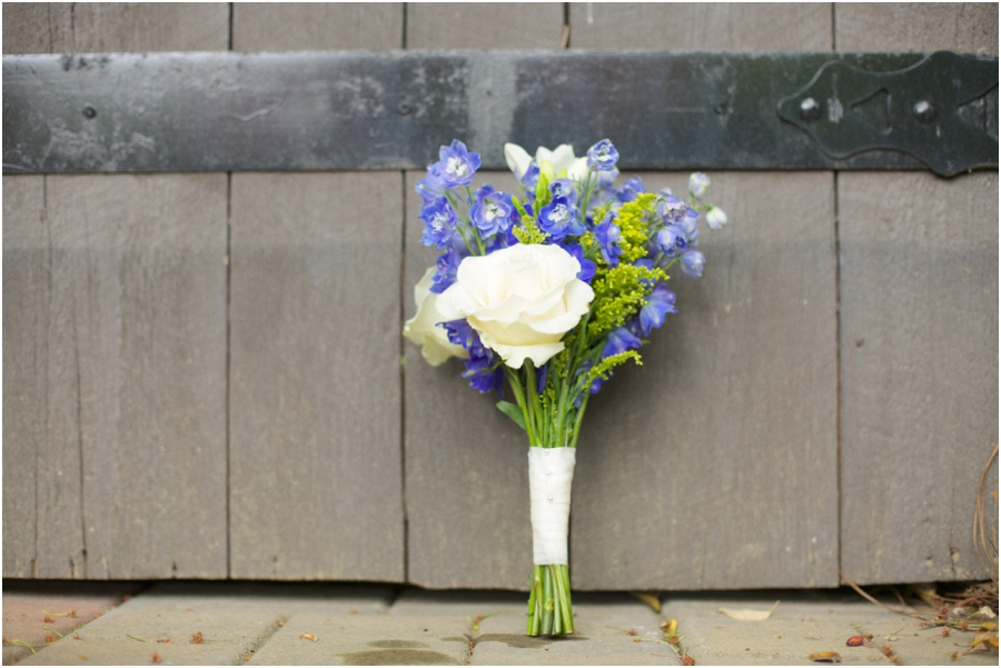 beautiful cream and blue fresh bridal bouquet from embellished blooms, retro wedding photography