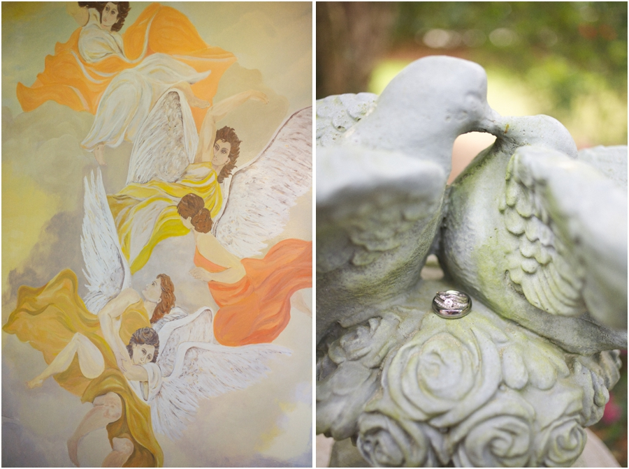 barclay villa wedding photography, romantic ring shots