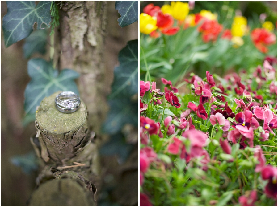rustic ring shots, garden wedding photography