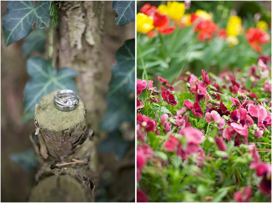 rustic ring shots, garden wedding photography