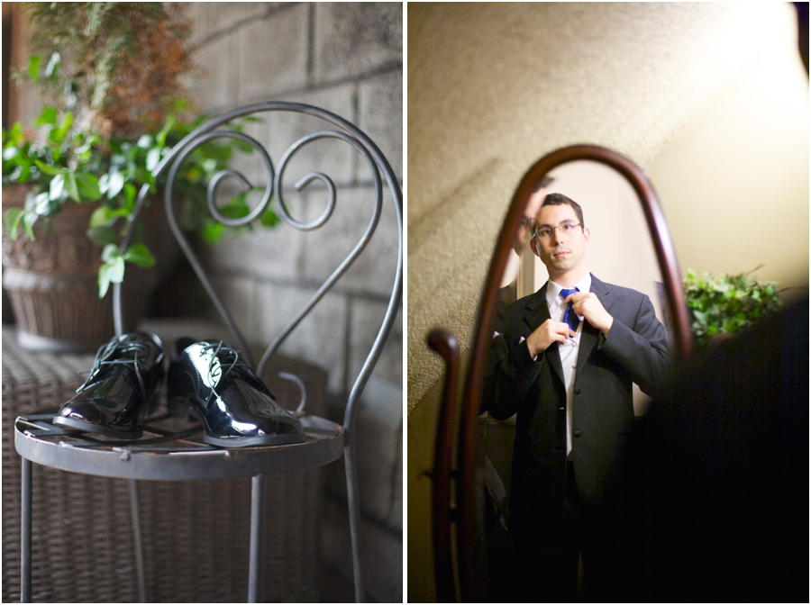 groom getting ready at barclay villa