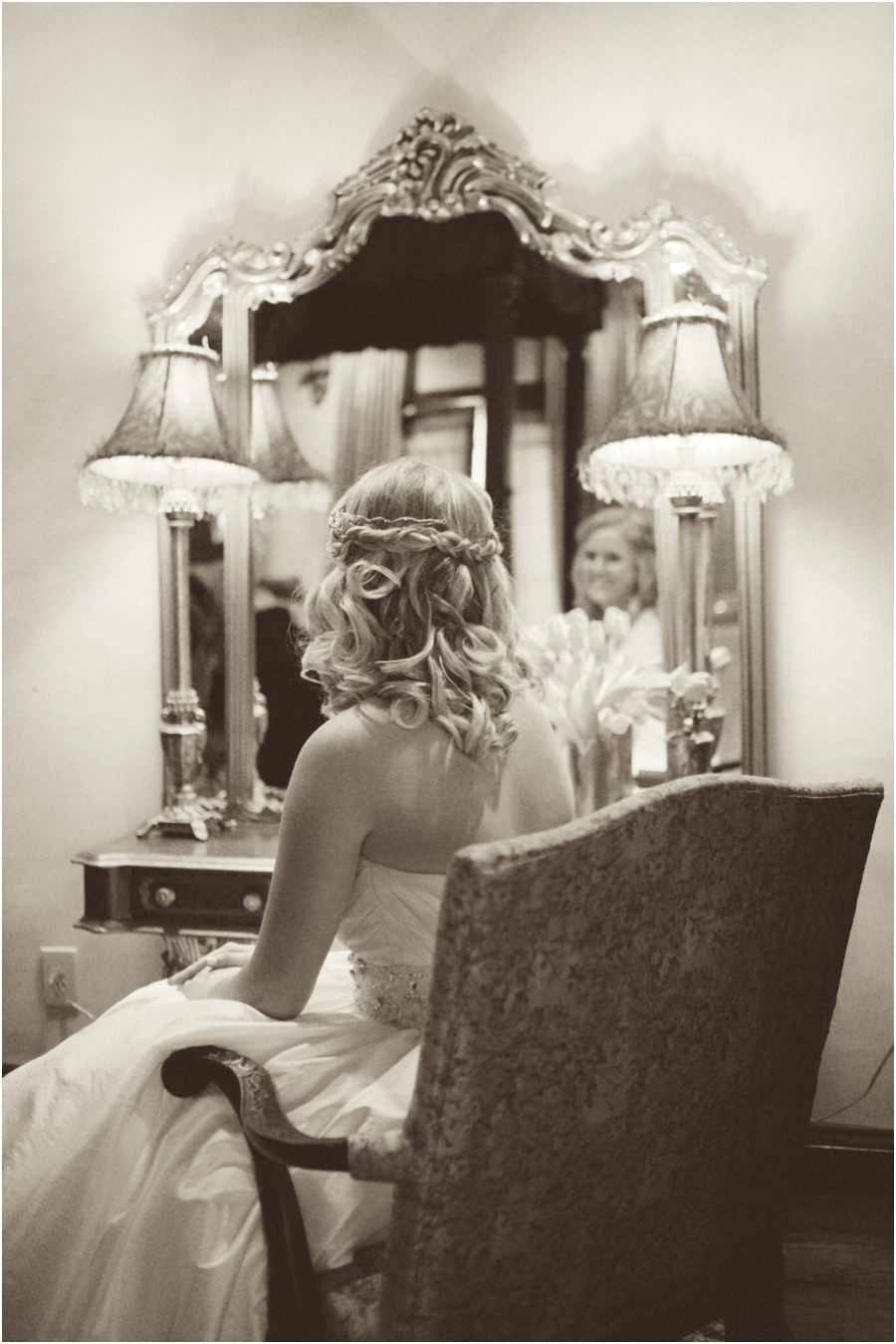 vintage bridal portraits, romantic southern wedding photographers