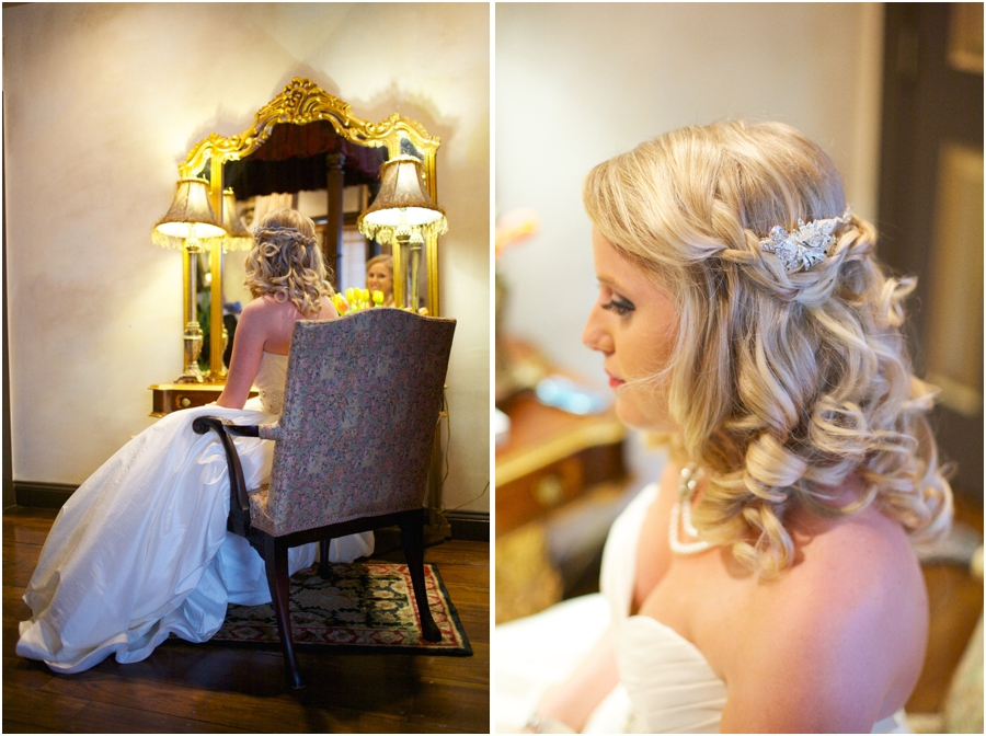 vintage wedding photography, southern bridal portraits