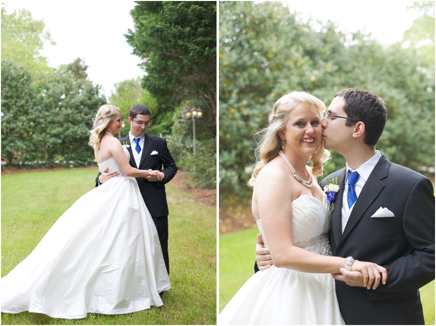 southern wedding portraits, romantic garden wedding photography