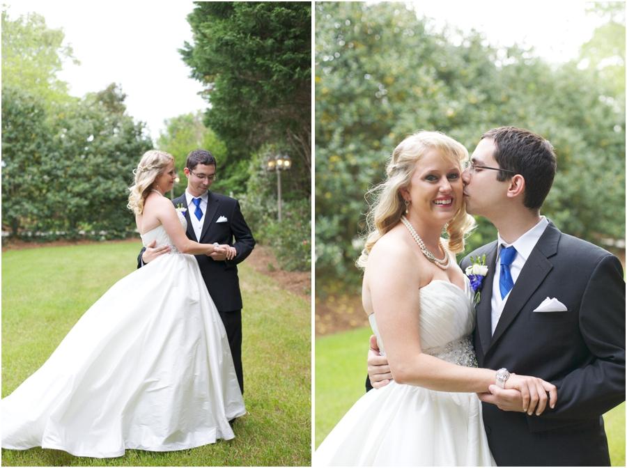 southern wedding portraits, romantic garden wedding photography