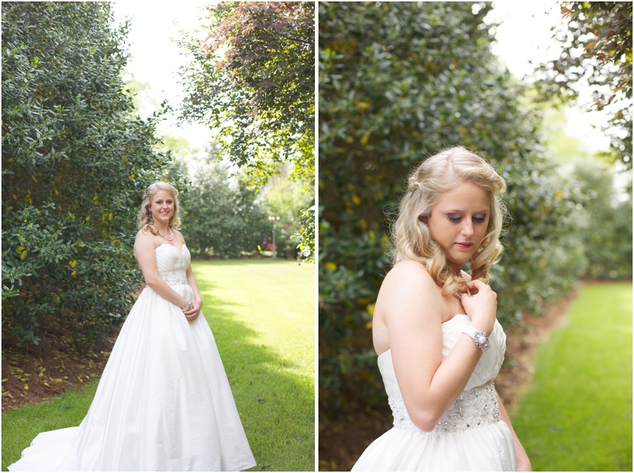 barclay villa bridal photography, southern bridal portraits