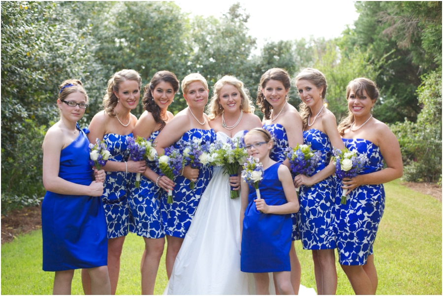 southern weddings, bridal party portraits