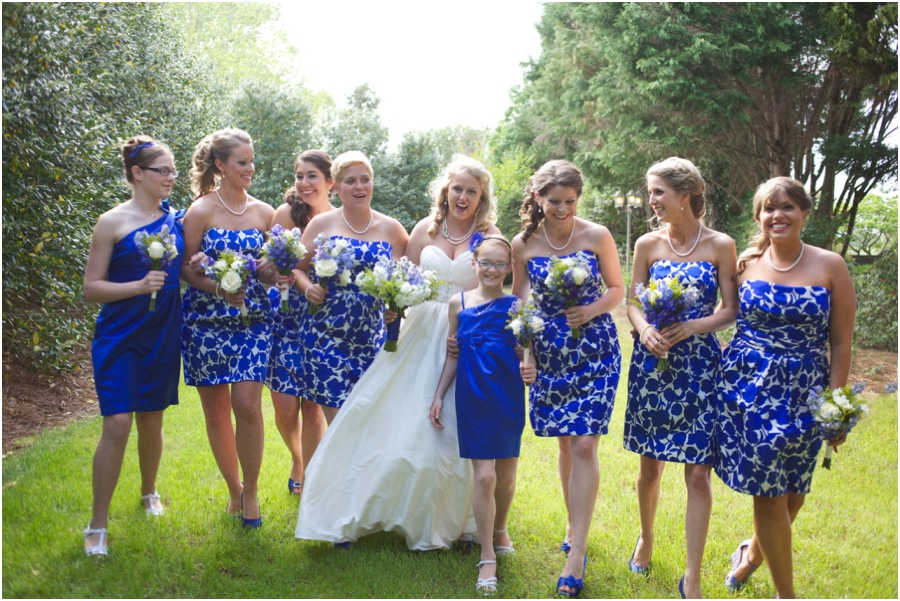 fun southern bridal party photography, garden wedding photographers