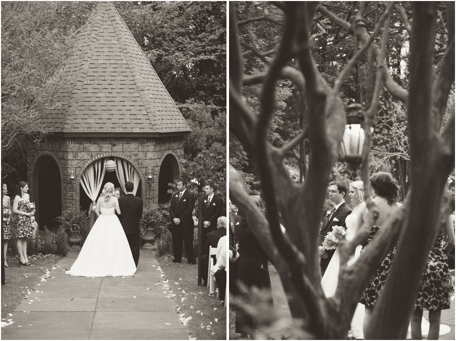 vintage garden wedding photography, black and white wedding photography