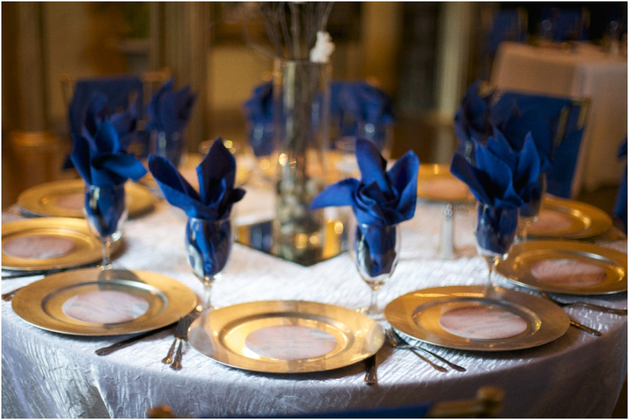 table settings at barclay villa wedding reception, southern wedding color schemes