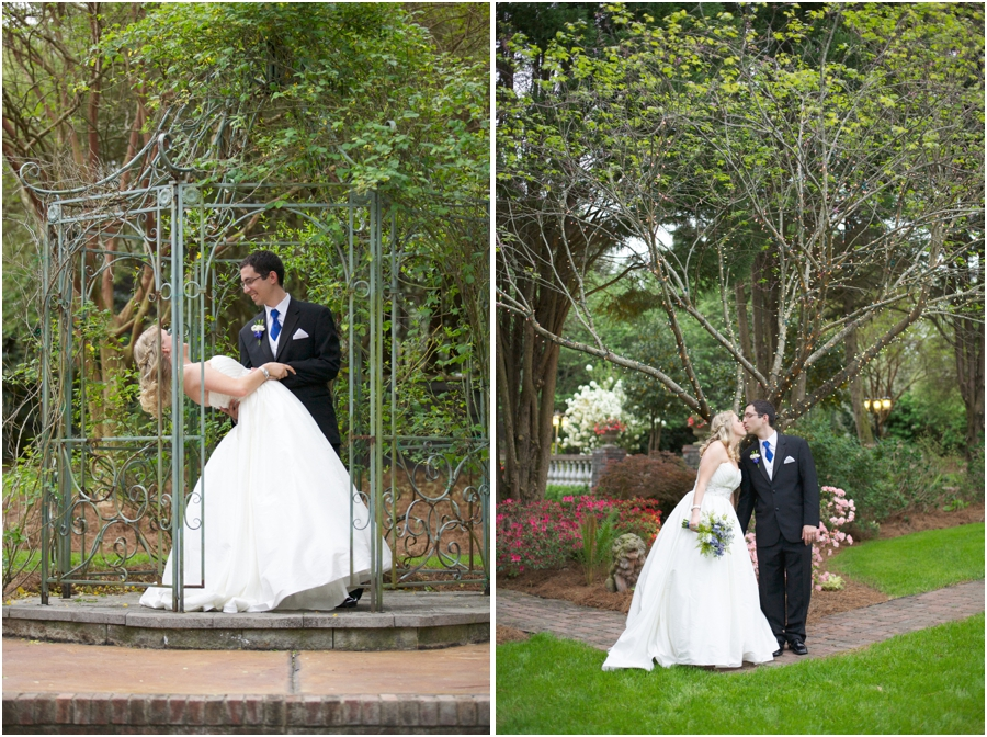 romantic garden wedding portraits, intimate southern wedding photography