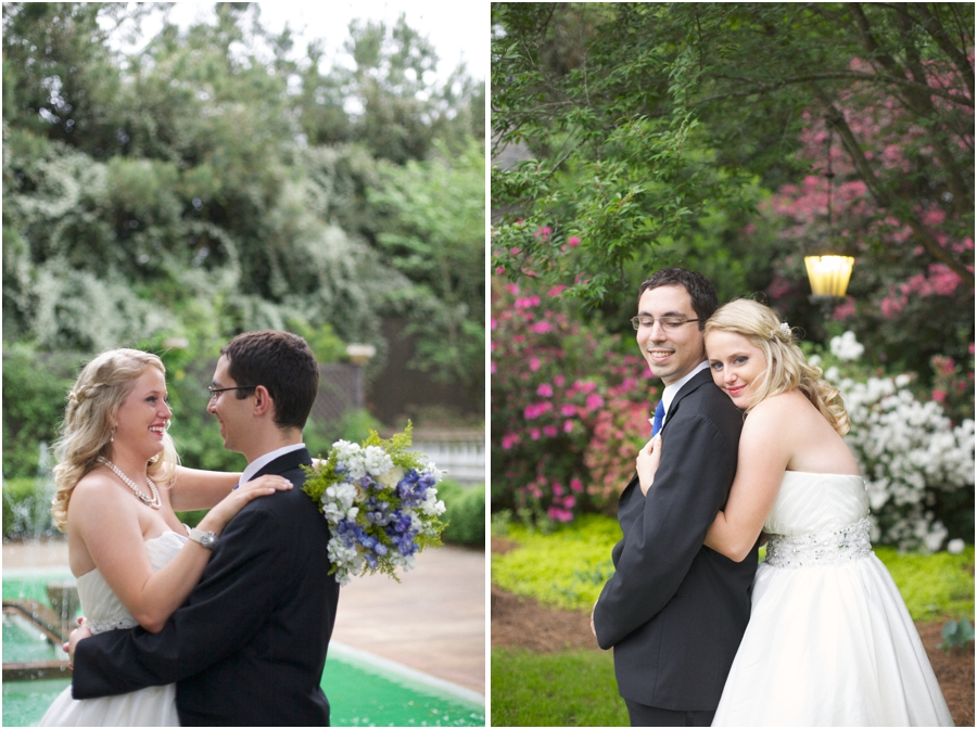 garden wedding photography, romantic southern wedding photographers